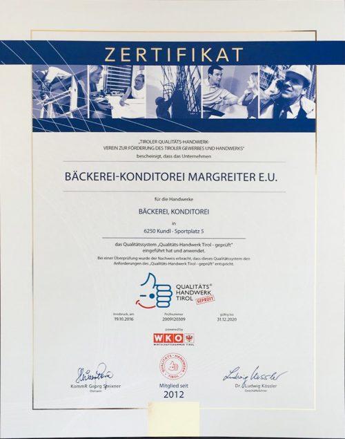 Bäckerei | Konditorei Margreiter | Werner Margreiter | Qualität